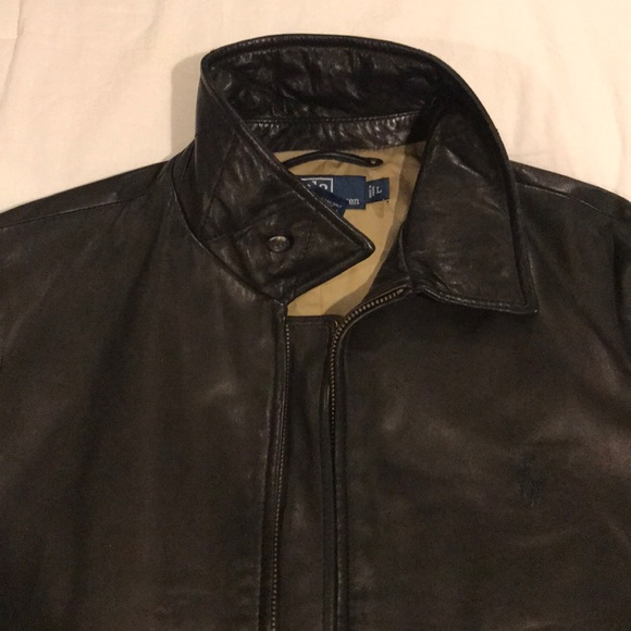 Leather Polo Ralph Lauren Polo Lauren Ralph Jacket 7gbf6Yy